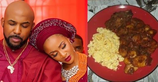 ENTERTAINMENT NEWS Adesua Gushes Over Husband, Banky W For Making Her A Mouth Watering Meal