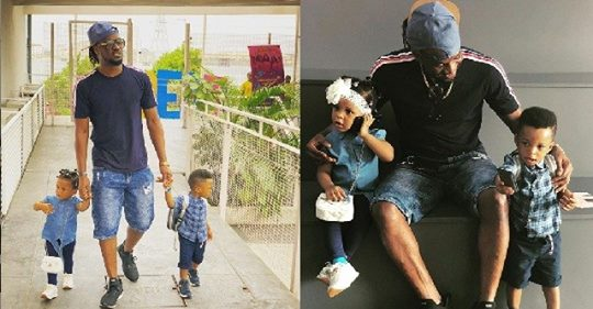 Paul Okoye Spotted With His Adorable Twins Nathan & Nadia (Photos)