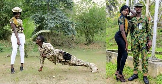 Nigerian Soldier And His Fiancee Share Lovely Pre-wedding Pictures