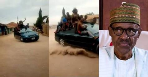Buhari's Die-hard Supporters Involved In A Car Crash While Celebrating His Re-election (Video)