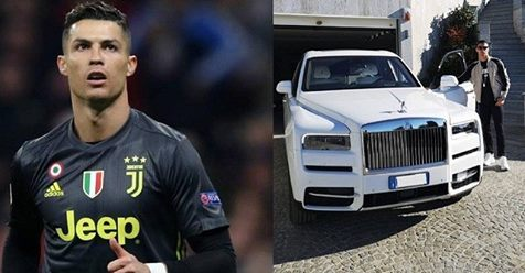 Cristiano Ronaldo Shows Off His New Whip, A Rolls Royce Cullinan (Photo)