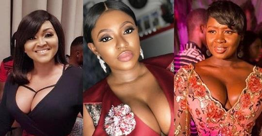 Battle Of The Cleavage : Yvonne Jegede, Mercy Aigbe & Princess Shyngle (Photo)