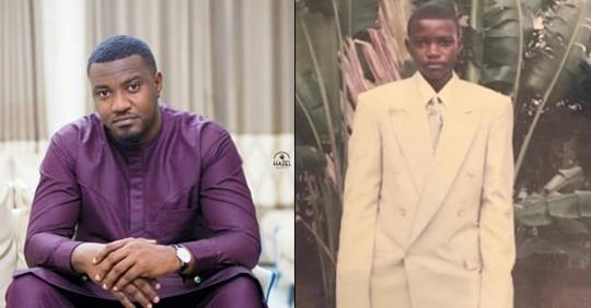 John Dumelo Vows To Force His  Son Wear The Same Oversized Suit He Was Forced To Wear  As A Child (Photo)