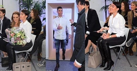 Cristiano Ronaldo And His Girlfriend Look Stunning As They Attend Opening Of His Hair Transplant Clinic (Photos)
