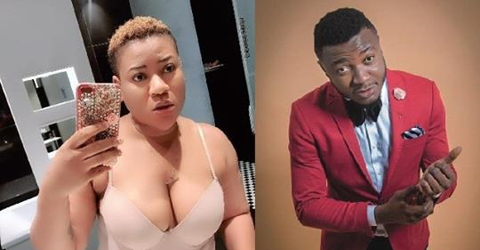 Actress Sunday Nkechi Blessing Takes Off Her Top In MC Galaxy's Live Video