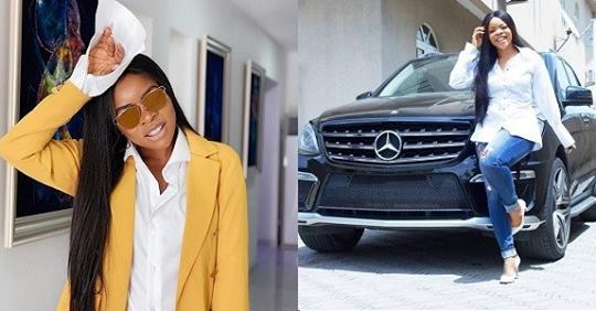 Laura Ikeji Flaunts Her Mercedes Benz, Talks About Beef And Business