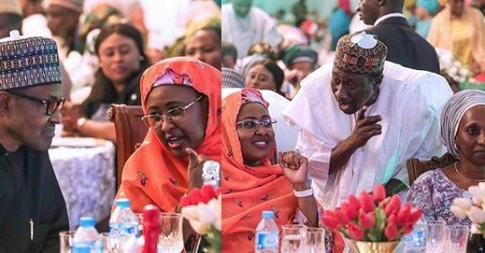 President Buhari, His Wife, Aisha And Children At The 2019 Presidential Election Victory Dinner (Photos)