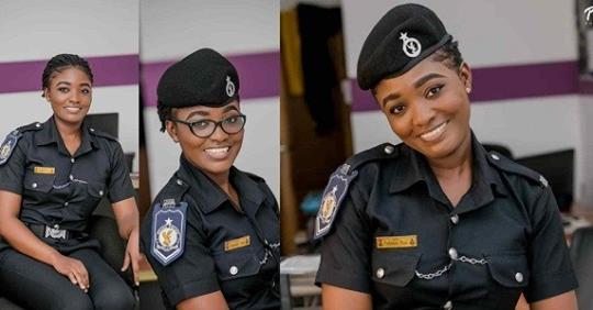 Ghanaian Female Police Has Us Mesmerized With Her Gorgeous Photos