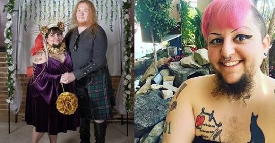 Bearded Woman Who Feared She Would Never Find Love Gets Married In A Christian-Satanist Ceremony