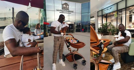 Jim Iyke Steps Out With His Newborn Son (photos)