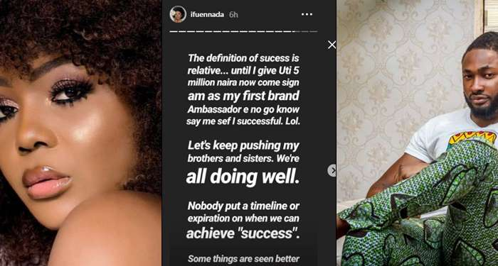 Ifu Ennada Slams Uti, Says He Wouldn't Know The Meaning Of Success Until She Pays Him 5millions