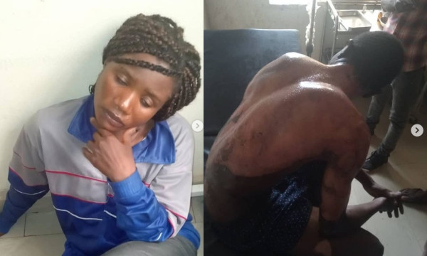 Lady Pours Hot Water On Her Daughter's Boyfriend In Abuja