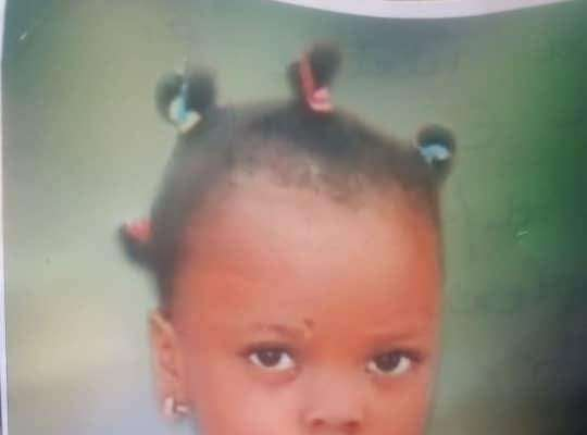 Little Girl Found On Her Birthday Two Weeks After She Went Missing In Lagos