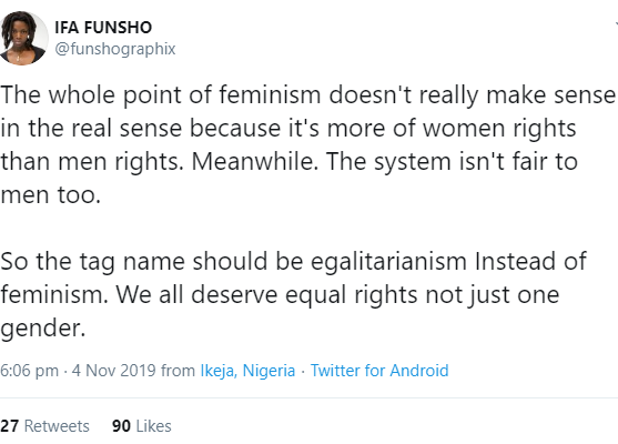 """Woman States Why """"feminism Doesn't Really Make Sense"""""""