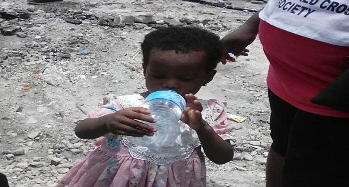 Abule Ado Explosion: Three Year Old Girl Rescued Unhurt From Debris (photos)