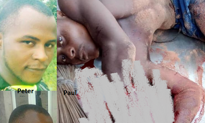 Man Butchers His Twin Brother During Fight Over Girlfriend In Imo (graphic Photos)
