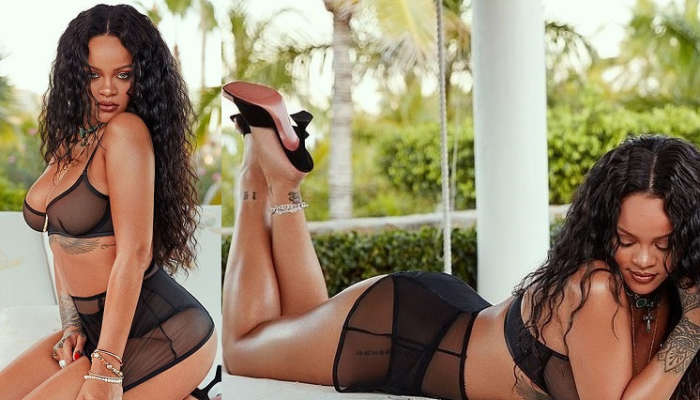 Rihanna Flaunts Her Sexy Body As She Poses In Sexy Lingerie (Photos)