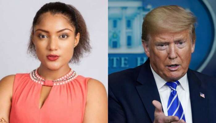 BBNaija's Gifty Powers Prays For Donald Trump To Remain President Forever