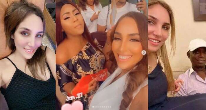 Ned Nwoko's Moroccan Wife Congratulates Regina Daniels On The Birth Of Her Baby