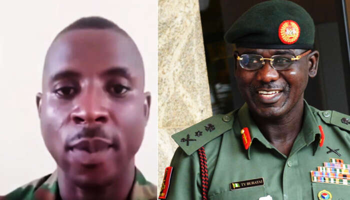 Nigerian Soldier Arrested For Blasting The Chief Of Army Staff And Other Security Chiefs In Viral Video (Watch Video)