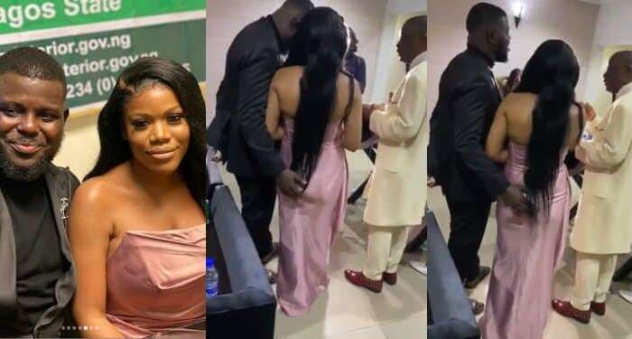 Bisi Olatilo's Son, Babajide Grabs His Fiancee's Butt During Prayers On Their Wedding Day (Photos/Video)