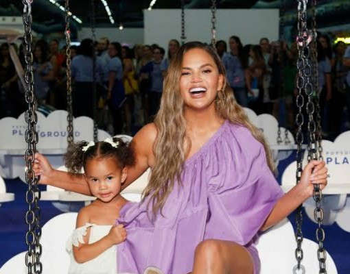 Chrissy Teigen Shows Off The Adorable Notes She Got From Her Daughter After Her Breast Implant Removal Surgery