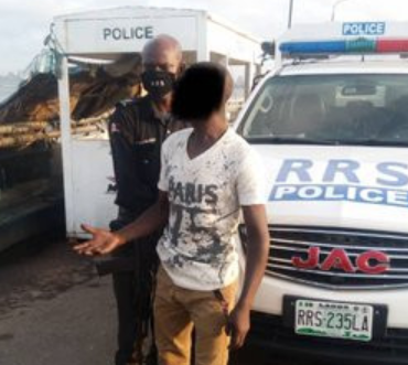 "Police In Lagos Prevent ""frustrated' Young Man From Jumping Into The Lagoon (photos)"