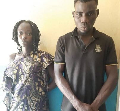 Man And His Wife Are Arrested In Ogun State For Humiliating The Man's Ex-girlfriend And Inserting A Bottle In Her Genitals