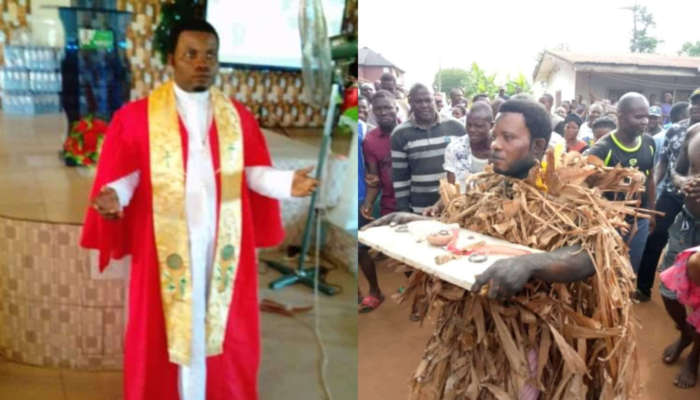 Pastor Disgraced After Allegedly Being Caught Planting Charm On His Cousin's Land To Extort Money From Him (photos)
