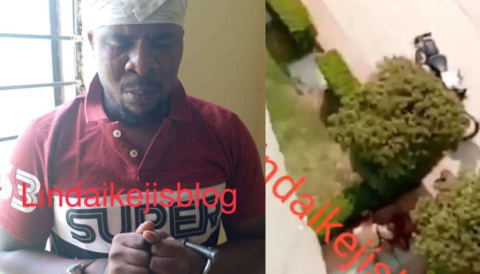 Nigerian Man Throws Down His Baby From The Second Floor Of His Apartment During A Fight With His Wife In India (video)