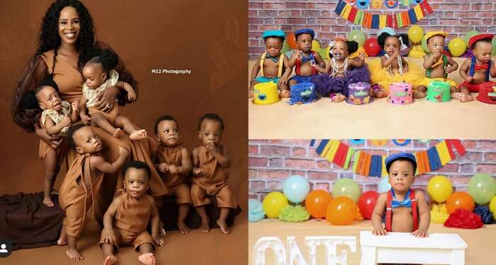 Nigerian Mum Warms Hearts With Adorable Photos Of Her Sextuplets