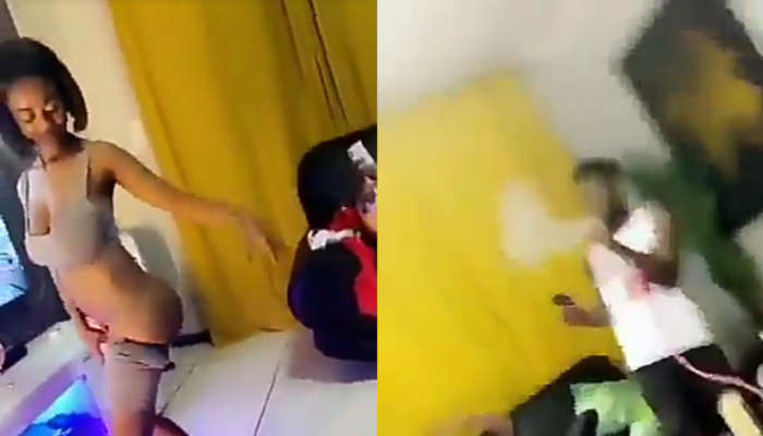 NigeriansMustFall Trends In South Africa After A Video Of A South African Woman Stripping And Tw*rking For Nigerian Men Went Viral (video)