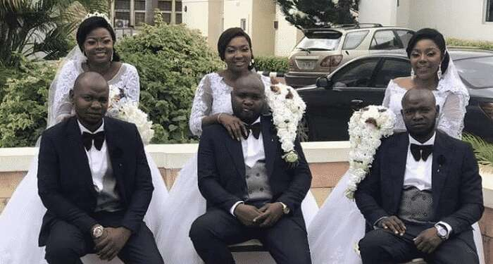 Why We Married Same Day, At Same Venue –Triplets And Wives