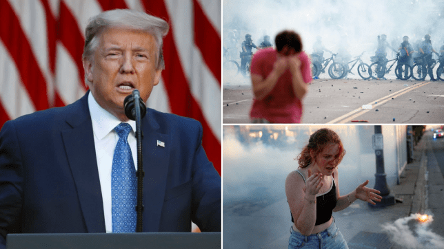 'It Was Like A Miracle, A Beautiful Scene' – Trump Says When Asked About George Floyd Protesters Getting Tear-gassed By National Guard