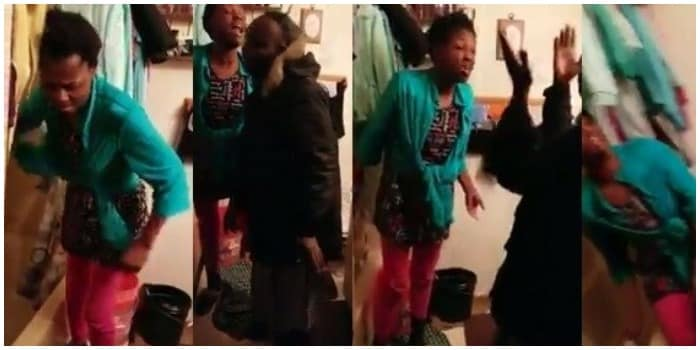 WOW! Woman Disgraces Her Man Abroad After Discovering He Has A Wife In Nigeria (video)