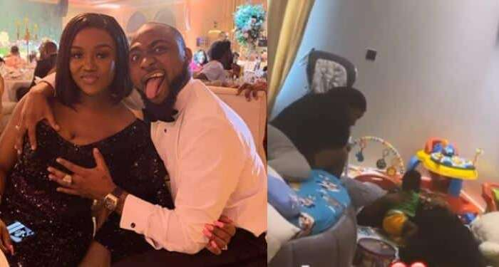 What Breakup? Davido And Chioma Chilling With Their Son Ifeanyi (Photo)