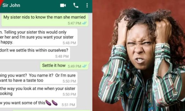 """Lady Shares Chat With Sister's Husband Who Promised To """"lick Her Honey Pot"""" After She Caught Him Cheating"""