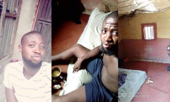 """""""I Wish I Can Find Love In My Poverty"""" – Nigerian Man Says As He Shares Photos Of His House"""