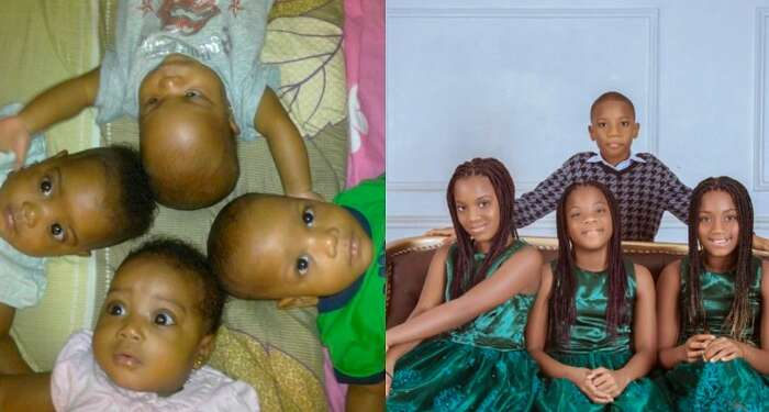 Excited Mom Celebrates Her Quadruplets On Their 10th Birthday (Photos)