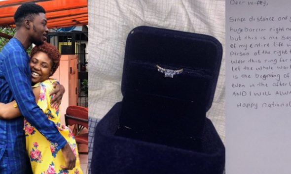 Man Sends Proposal Letter And Engagement Ring To Girlfriend Through Courier Service (Photos)