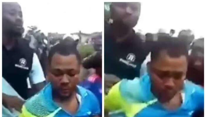 Trader Arrested For Allegedly Eating Bread And Faeces In Oyo (videos)
