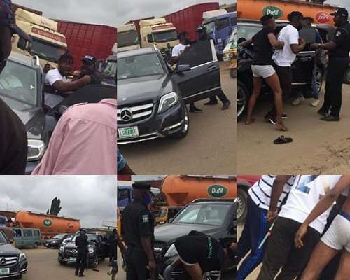 Police Strip Young Men Off Their Clothes, Label Them 'Yahoo Boys' For Driving Benz In Ogun (Photos)
