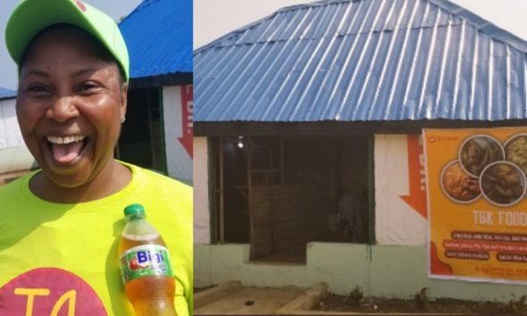 Woman Excited As Her Son Opens A New Restaurant For Her (Photos)