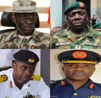 President Buhari Accepts Immediate Resignation Of Service Chiefs, Appoints New Hands