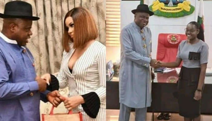 Bayelsa Governor Removes Nengi As Face Of Bayelsa Girl Child, Replaces Her With 1st Class Law Graduate Blessing Eradiri