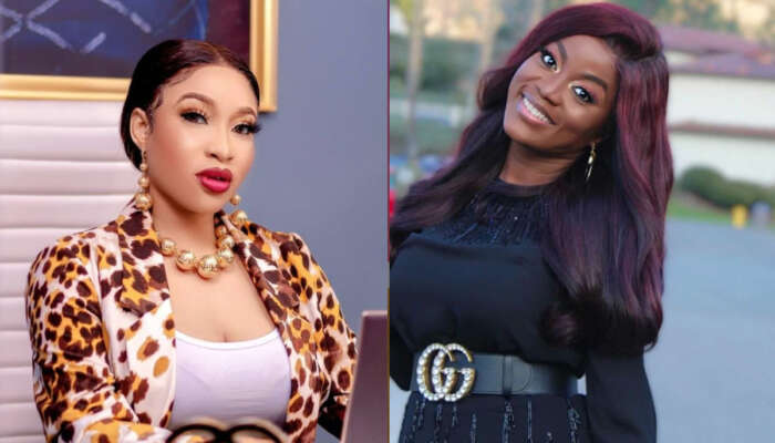 Tonto Dikeh Celebrates Olakunle Churchill's First Ex-Wife, Bimbo Coker Who Shares The Same Birthday With Her Son