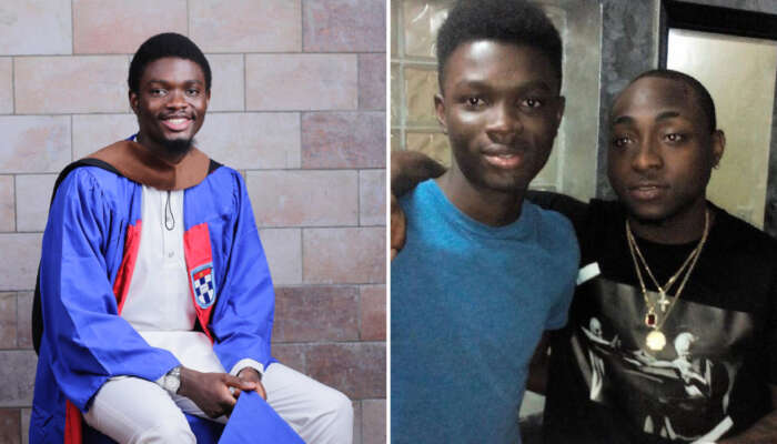 First-Class Engineering Graduate Thanks Davido For Partly Funding His Education In Nigeria After He Dropped Out Of School In England