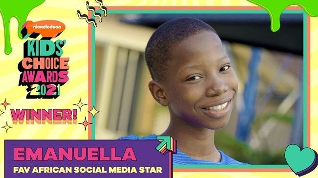 Child Comedian, Emanuella Wins 'Favourite African Social Media Star' At Nickelodeon's Kids' Choice Awards 2021