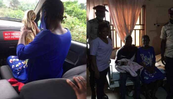 FRSC Officers Help Woman In Labour On Transit To Hospital As She Delivers Baby Boy