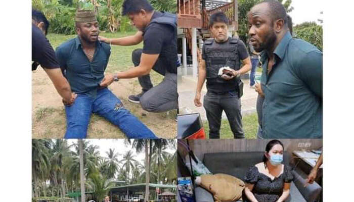 Nigerian Man And His Girlfriend Arrested For Selling Cocaine In Thailand